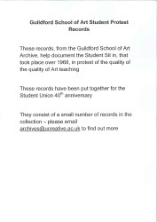 Guildford School of Art student protest Spread 0 recto