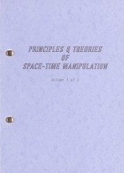 Principles and Theories of Space-time Manipulation: Volume 3 Spread 0 recto
