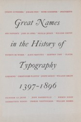 Great names in the history of typography 1397-1896 Spread 0 recto