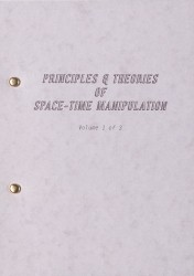 Principles and Theories of Space-time Manipulation: Volume 1 Spread 0 recto
