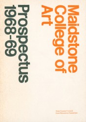 Maidstone College of Art Student Union Prospectus Statements 1968-1980s Spread 0 recto